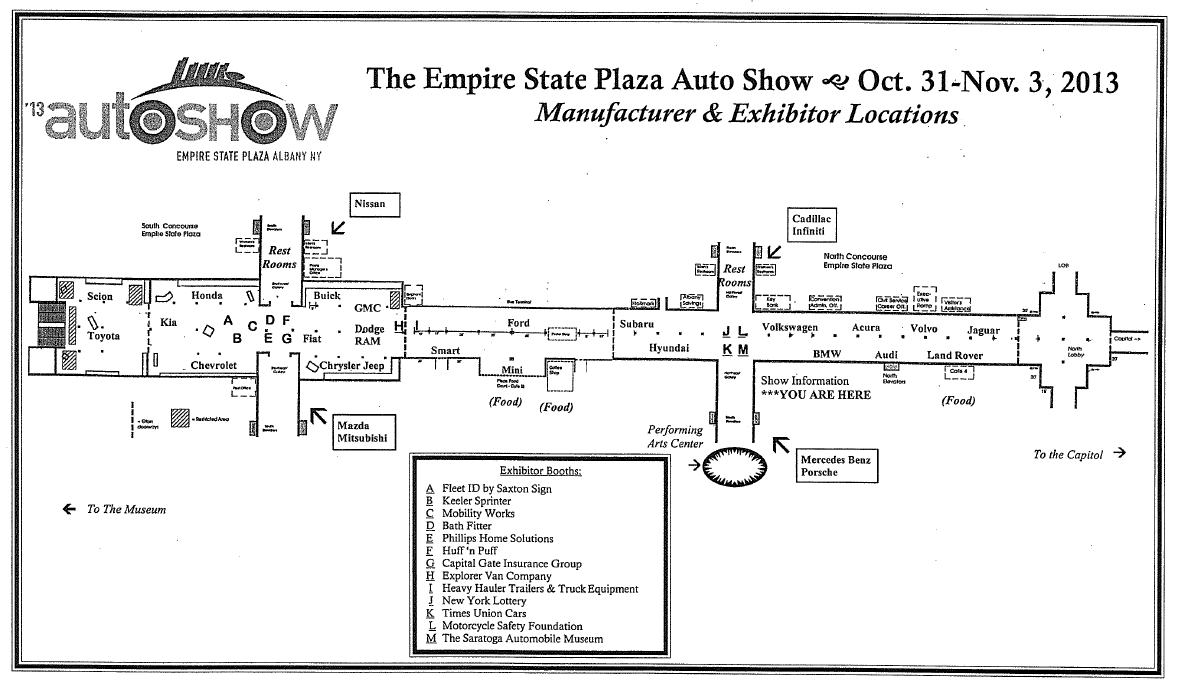 2014 Albany Auto Show Floor PlanShow Map Shows